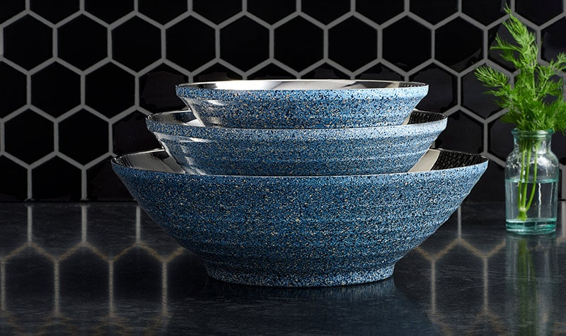 New Items Added Daily at Lowest Prices Ever-476-471 Deen Brothers Set of 3 GranIT Double Wall Stainless Steel Bowls