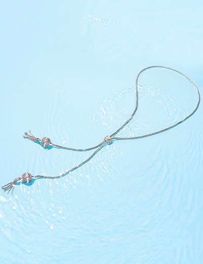 ARTISAN JEWELRY at Evine - 179-167 Artisan Silver by Samuel B. 31in Tulang Naga Adjustable Bolo Necklace