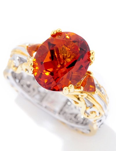 FASHIONABLE FLASH OVER 50% OFF at ShopHQ - 156-208  Gems en Vogue 3.50ctw Rio Grande Multi Citrine Euro Shank Ring