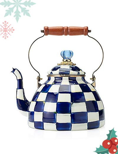 467-989 MacKenzie-Childs Hand-Decorated Enamelware Tea Kettle