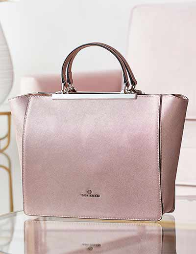 LUXURY MARKDOWNS SAVE ON FASHION & BEAUTY at Evine - 740-721 Celine Dion Collection Opera Saffiano Leather Top Handle Bag w Removable Strap