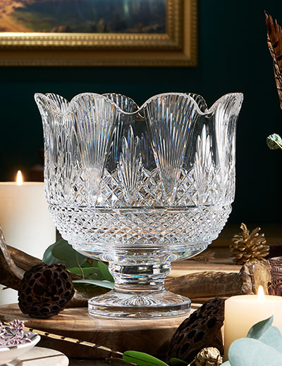 TOP RATED WATERFORD at Evine - 476-777 House of Waterford Theatre Royal 10 Crystal Footed Trifle Bowl