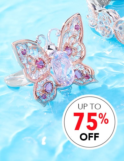 ROCK BOTTOM JEWELRY SAVE BIG ON SPARKLE at Evine - 168-924 Gems en Vogue 4.59ctw Kunzite & Multi Gemstone Limited Edition Butterfly Ring