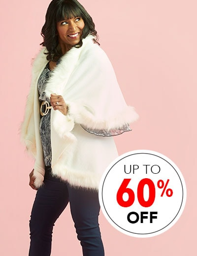 Customer Choice Fashion Get In On The Trends at Evine - 740-745 Artizan Knit & Faux Fur Trimmed Cape & Woven Faux Leather Gloves Set