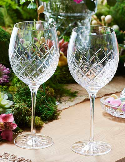 Waterford New Spring Designs at Evine - 480-463 Waterford Crystal Astor Set of 2 18 oz All-Purpose Goblets