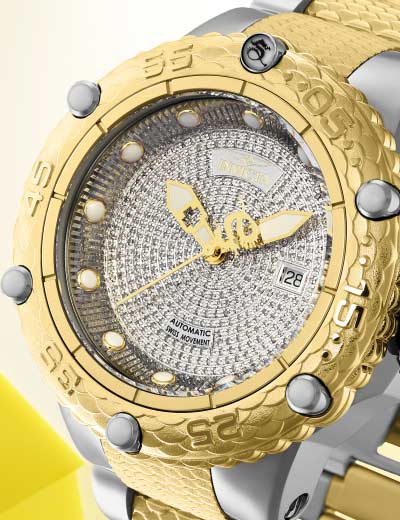 UP TO 75% OFF TIME TO DAZZLE DIAMOND ACCENTED WATCHES at Evine