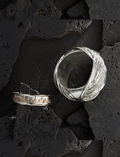 Passage to Israel at ShopHQ - 182-257 Passage to Israel™ 6.5 or 7 Oxidized City Cuff Bracelet - 175-465 Passage to Israel™ Sterling Silver 7.5 or 8.25 Electroform Wide Bangle Bracelet