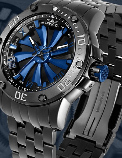 6 ValuePay® on Top Selling Watches at Evine - 650-455 Invicta Men's 52mm Turbine Automatic Stainless Steel Bracelet Watch