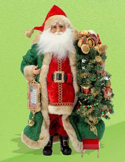 ROCK YOUR HOLIDAY WITH KAREN DIDION ORIGINALS at Evine - 482-951 Karen Didion Originals Christmas Morning 14 Santa Collectible