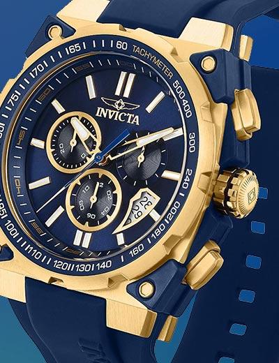 INVICTA WEB EXCLUSIVES at Evine - 669-932 Invicta Men's 47mm S1 Rally Swiss Quartz Chronograph Date Silicone Strap Watch