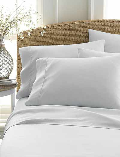 WHITE SALE GET YOUR BEDDING FIX at Evine - 480-757 Home Collection Luxury Ultra Soft 6-Piece Bed Sheet Set