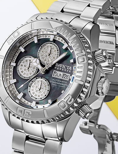 UP TO 70% OFF UNIQUE INVICTA at Evine - 661-467 Invicta Reserve Men's 47mm Pro Diver LE Swiss Automatic 0.42ctw Diamond Chronograph Watch w Case