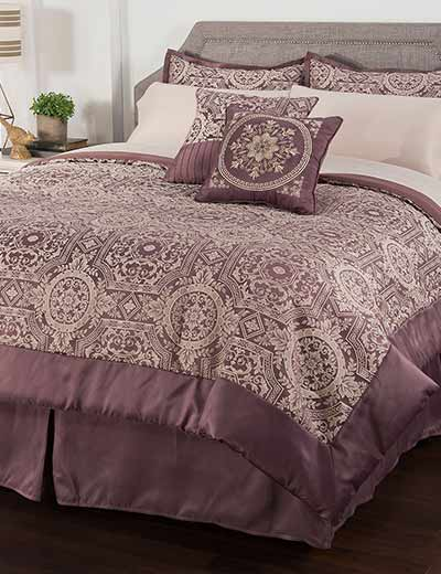 BEDDING SALE & CLEARANCE MAKE YOURSELF COZY at Evine - 468-214 North Shore Living™ Oxford 10-Piece Jacquard Comforter Set