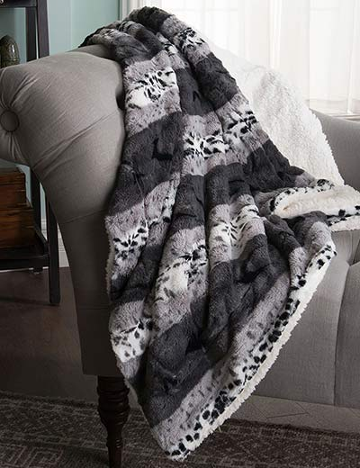UP TO 50% OFF 5 STAR HOME FINDS SALE & CLEARANCE at Evine - 448-845 North Shore Living™ 50 x 60 Faux Fur Reversible Throw