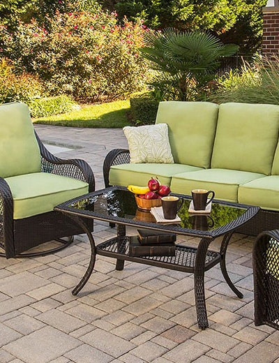 OUTDOOR ENTERTAINING ADD SOME FUN TO YOUR SUN at Evine - 457-254 Hanover Outdoor Furniture Four-Piece Orleans Seating Set