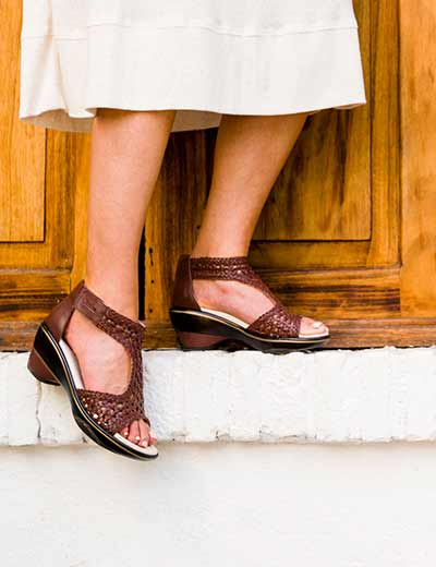 SANDALS & FLATS NEW SUMMER STYLES at Evine -  726-460 - JBU by Jambu Chloe Memory Foam Floral Laser Cut T-Strap Wedge Sandals