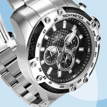 Invicta Weekender Eyal's Warehouse Picks at Evine - 662-752 Invicta Men's 50mm Speedway Quartz Chronograph Stainless Steel Bracelet Watch
