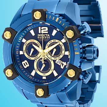 Invicta Reserve at Evine - 657-215 Invicta Reserve Men's 63mm Grand Octane Blue Label Swiss Quartz Chronograph Bracelet Watch