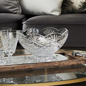 5 Star Sunday Steals at Evine - 476-535 Waterford Crystal Pearce Choice of 10 Scalloped Edge Footed Bowl or Vase