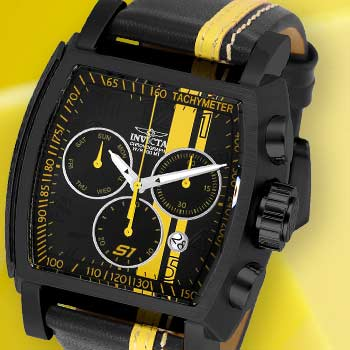 Invicta S1 Rally Start Your Engines at Evine - 656-977 Invicta Men's Tonneau S1 Rally Race Team Quartz Chronograph Leather Strap Watch w Helmet Case