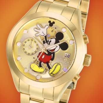Invicta Disney® Collect These Colorful Characters at Evine -  670-583 Invicta Disney® Women's Mickey Mouse Limited Edition Quartz Chronograph Date Bracelet Watch