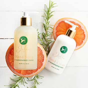 Beauty Sets & Kits Total Fox in a Box at Evine - 315-303 Hummingbird Farms Julia 1933 Rosemary Citrus Aloe Vera Hand Soap & Cream Duo