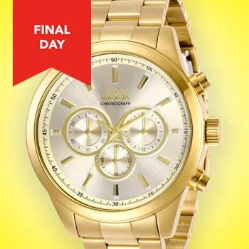 Invicta Weekender Stay One Step Ahead at Evine - 670-144 Invicta Men's 48mm Specialty Quartz Chronograph Stainless Steel Bracelet Watch