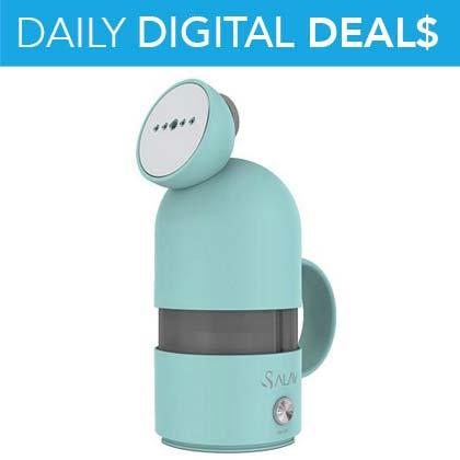 40% OFF Daily Digital Deals Salav Handheld Travel Steamer -  487-350 Salav 600W Handheld Travel Dual Voltage Garment Steamer