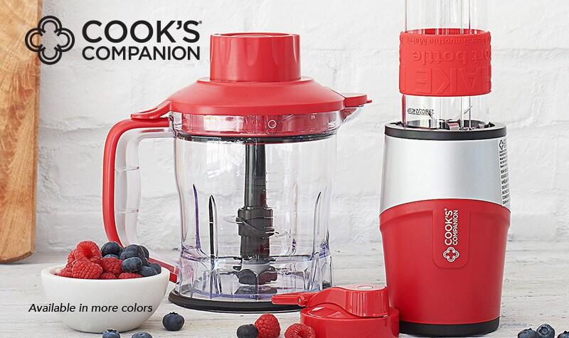 Today's Top Value at Evine - 475-277 Cook's Companion® Shake N' Take 500W 2-in-1 Blending Bottle & Food Processor