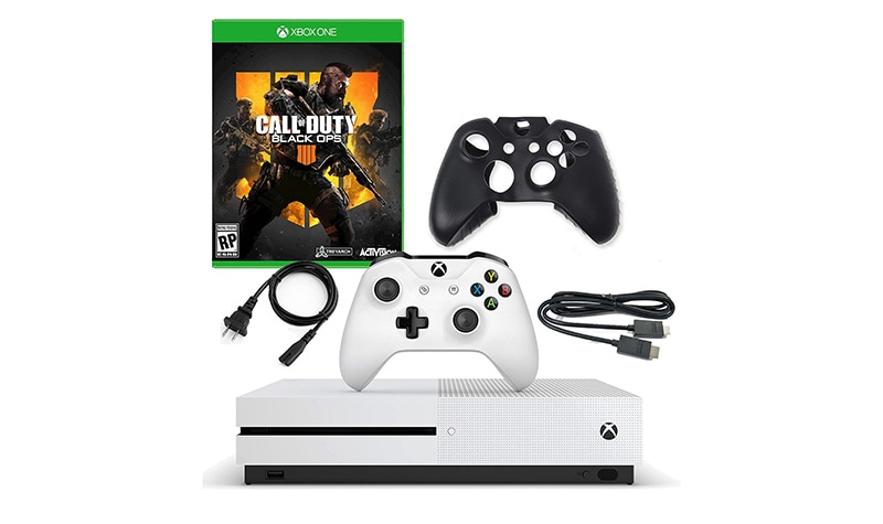 Today's Top Value at Evine - 481-666 Microsoft Xbox One S 1TB Console w Call of Duty Black Ops & Silicone Controller Sleeve