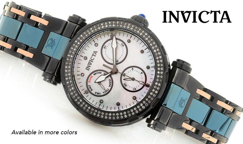 Today's Top Value - 658-808 Invicta Women's Subaqua Noma I Quartz Multi Function 0.67ctw Diamond Mother-of-Pearl Bracelet Watch