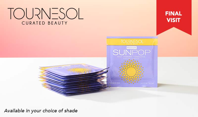 Daybreak Best Deals at Evine - 315-242 Tournesol Set of 15 SunPop Self Tanning Towelettes