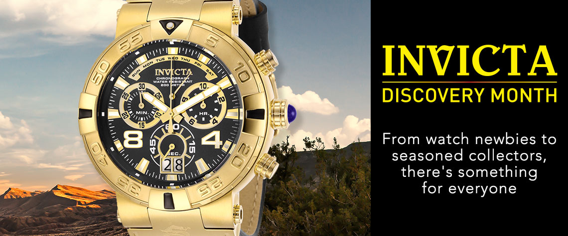 INVICTA DISCOVERY MONTH  From watch newbies to seasoned collectors, there's something for everyone - 660-783 Invicta Men's 52mm Subaqua Noma I Elegant Swiss Quartz Chronograph Leather Strap Watch