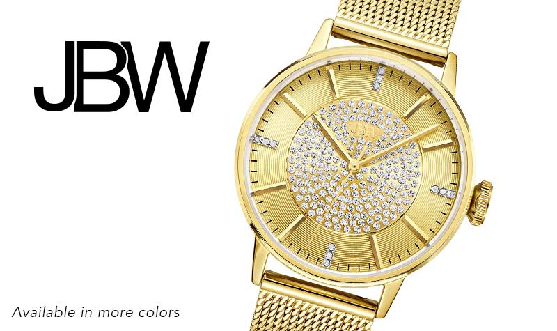 Today's Top Value Web Only at Evine - 640-399 Belle Crystal & Diamond Accented Mesh Bracelet Watch