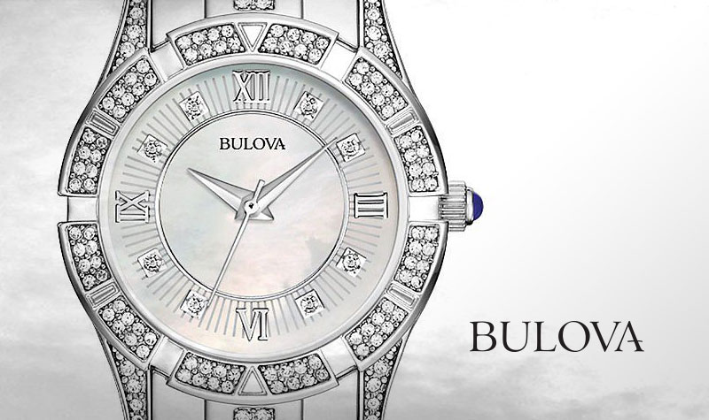 242819f38 Today s Web Top Value at Evine - 667-628 Bulova Women s Quartz Crystal  Accented Silver