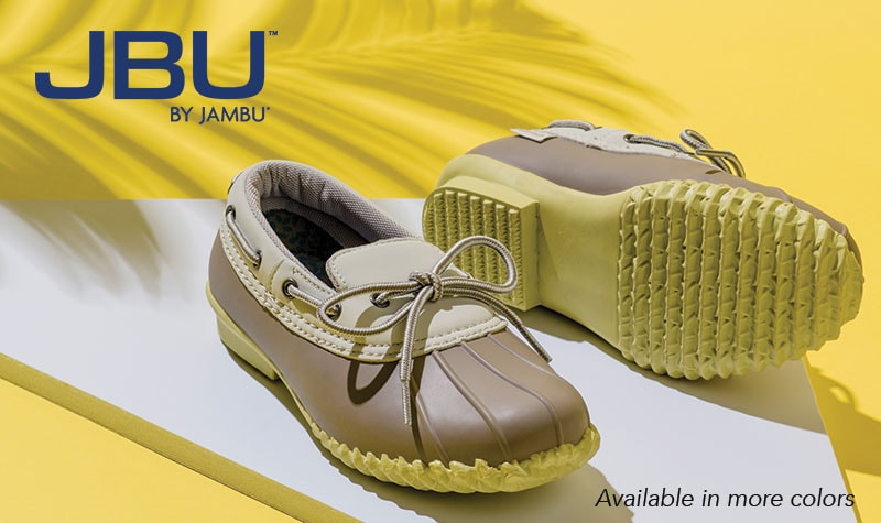 Today's Top Value at Evine - 741-253 JBU by Jambu Gwen Rubber & Faux Leather Memory Foam Duck Shoes