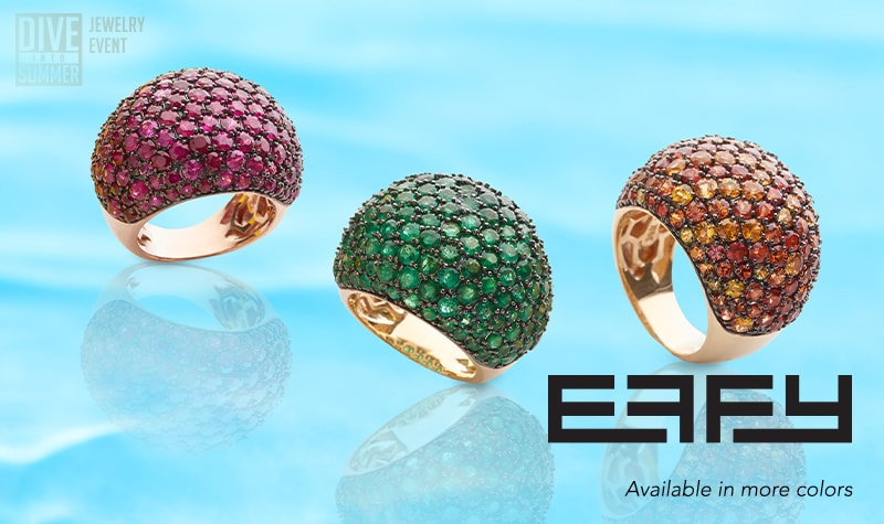 Today's Top Values at Evine - 175-719 EFFY Precious 14K Gold Choice of Gemstone Dome Ring