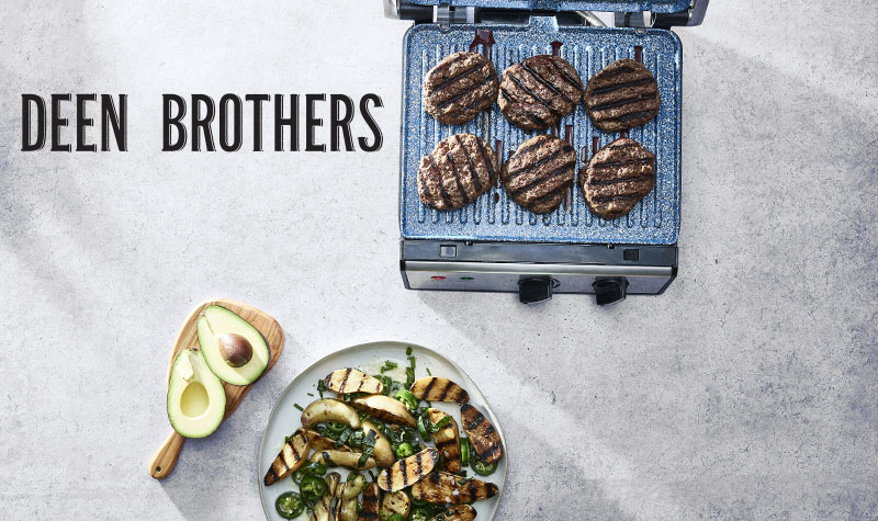 24 Hour Best Deals at Evine - 483-295 Deen Brothers 1500W GranIT Stone-Infused Contact Grill & Griddle