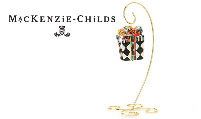 Prime Time Bests Deals at Evine -  476-915 Harlequin Hand-Painted Present Glass Ornament w Stand