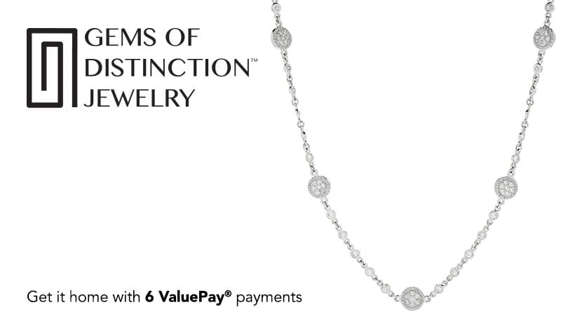 Prime Time Best Deal at Evine - 159-121 14K Gold 18 3.60ctw Diamond 5-Station Necklace