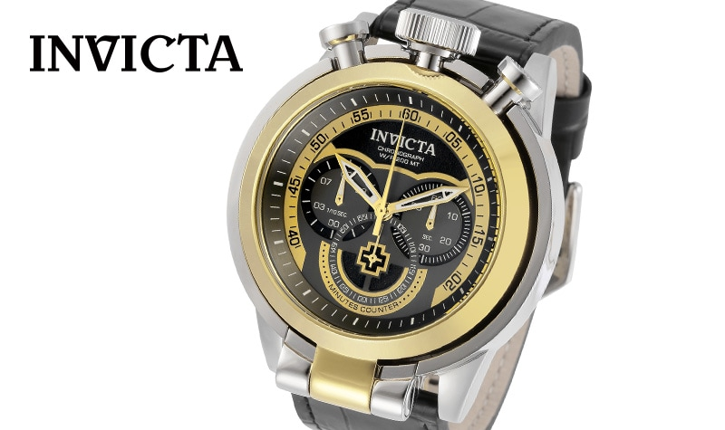 Today's Prime Time deal at Evine - 665-026Invicta 52MM I-Force Admiral Quartz Chrono Leather Strap Watch