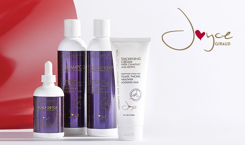 Joyce Giraud 4-Piece Pure4 Ultimate Hair Strength System w Cynatine at ShopHQ