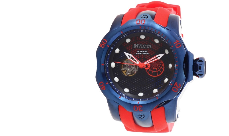 New Items Added Daily at Lowest Prices Ever at ShopHQ | 651-341 Invicta Marvel Men's 52mm Venom Limited Edition Automatic Open Heart Silicone Strap Watch