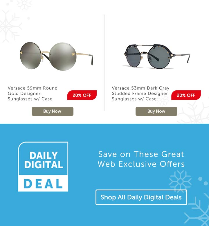 Save on These Great Web Exclusive Offers at ShopHQ | 745-622 OR 741-676 | Choice of Versace Sunglasses
