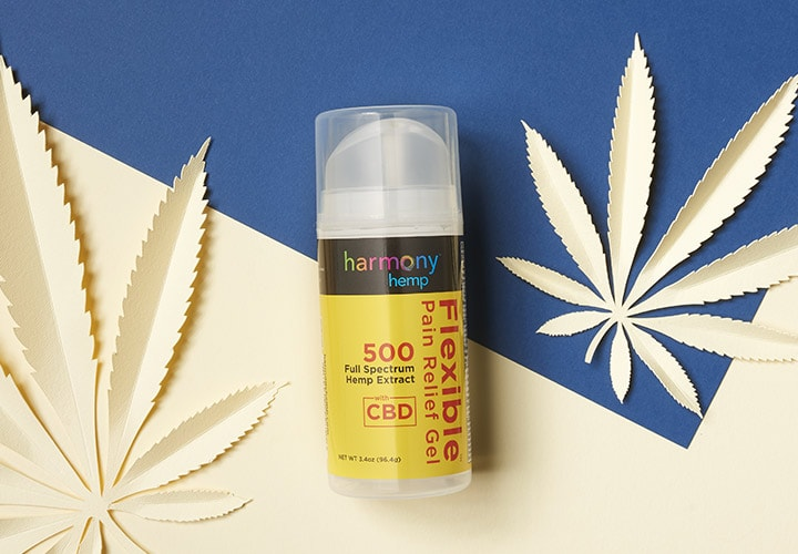 Harmony Hemp - 002-477 Harmony Hemp Flexible Pain Relief Gel 3.4 oz w 500mg Full Spectrum CBD