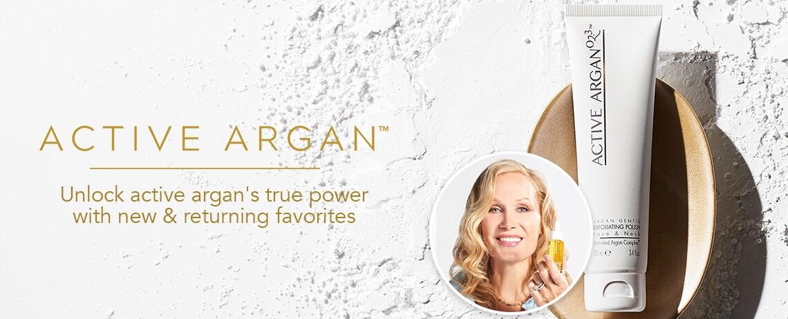 ACTIVE ARGAN  Unlock active argan's true power with new & returning favorites at Evine
