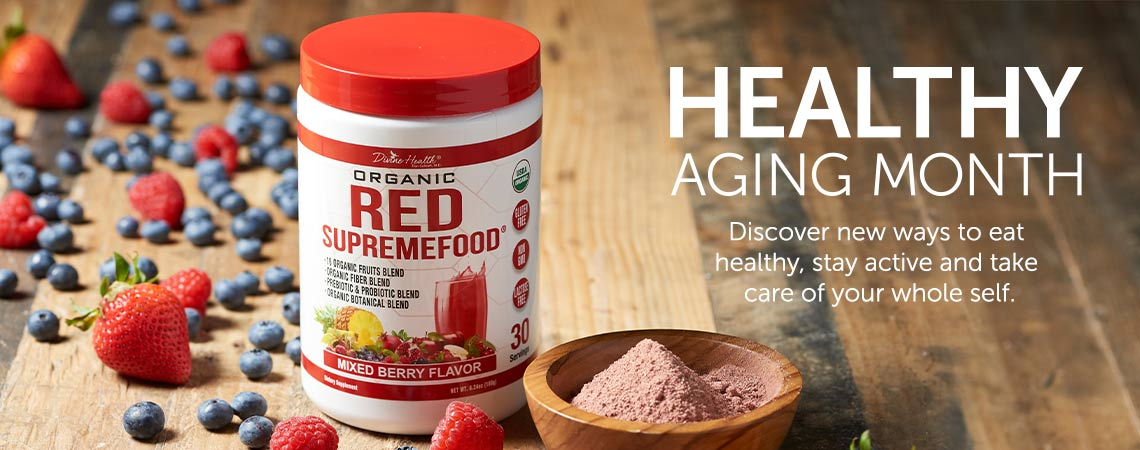 HEALTHY AGING MONTH  Discover new ways to eat healthy, stay active and take care of your whole self. at ShopHQ - 002-475 Dr. Colbert M.D. Certified Organic Fermented Reds Supremefood (Choice of Supply)