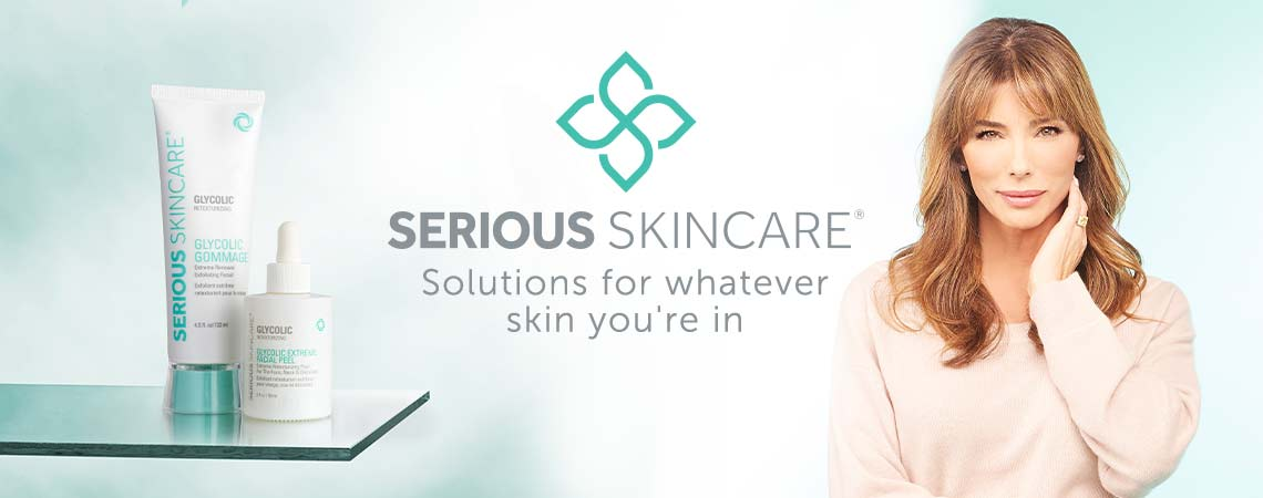 Serious Skincare Solutions for whatever skin you're in at ShopHQ - 315-682 Serious Skincare Glycolic Retexturizing Facial Duo