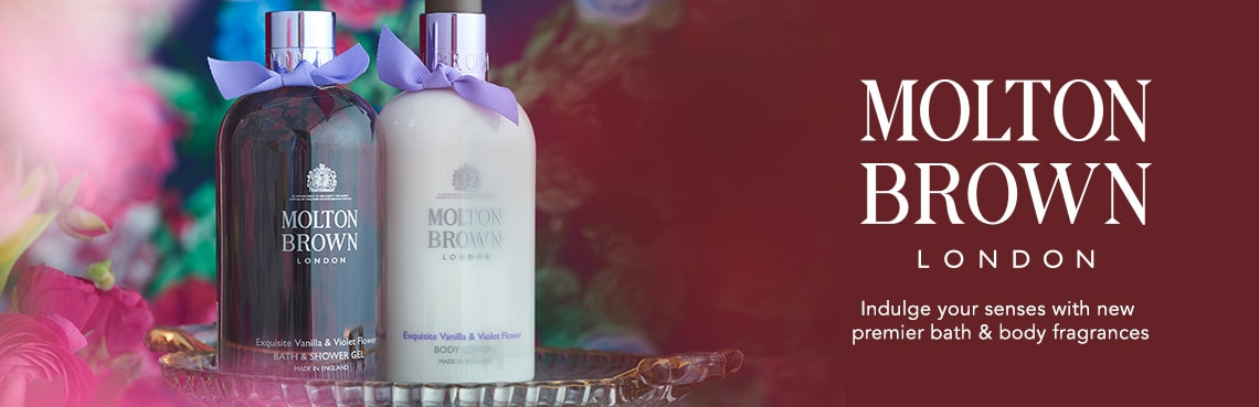 MOLTON BROWN  Indulge your senses with new premiere bath & body fragrances at Evine