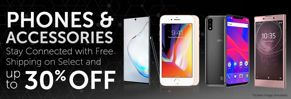 Phones & Accessories Stay Connected with Free Shipping on Select and up to 30% OFF at ShopHQ